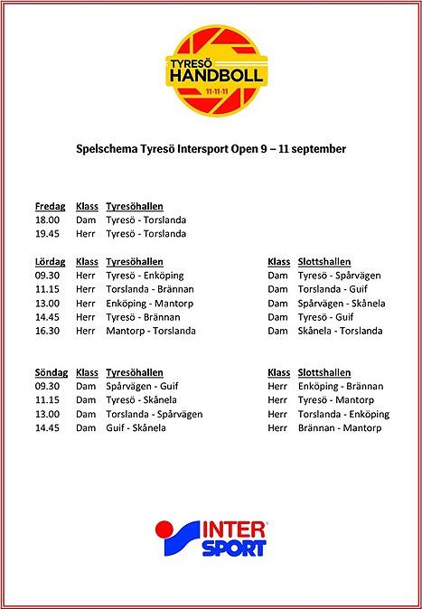 Tyresö Intersport Open