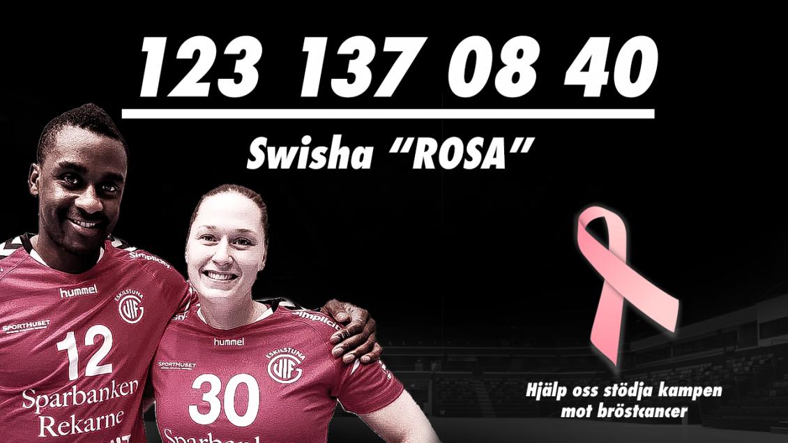 Vi stödjer Rosa Bandet!