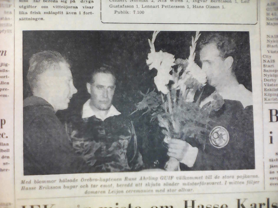 Tidningsklipp 1958