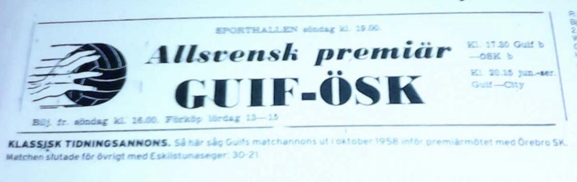 60 år sedan första matchen i högsta serien!