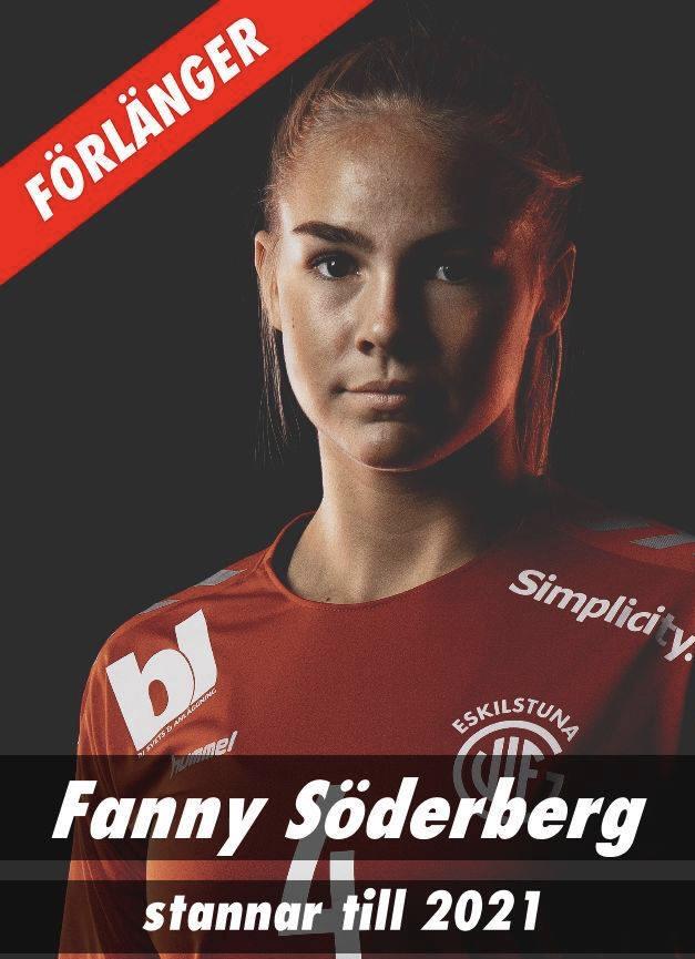 Fanny Söderberg fortsätter i Eskilstuna Guif
