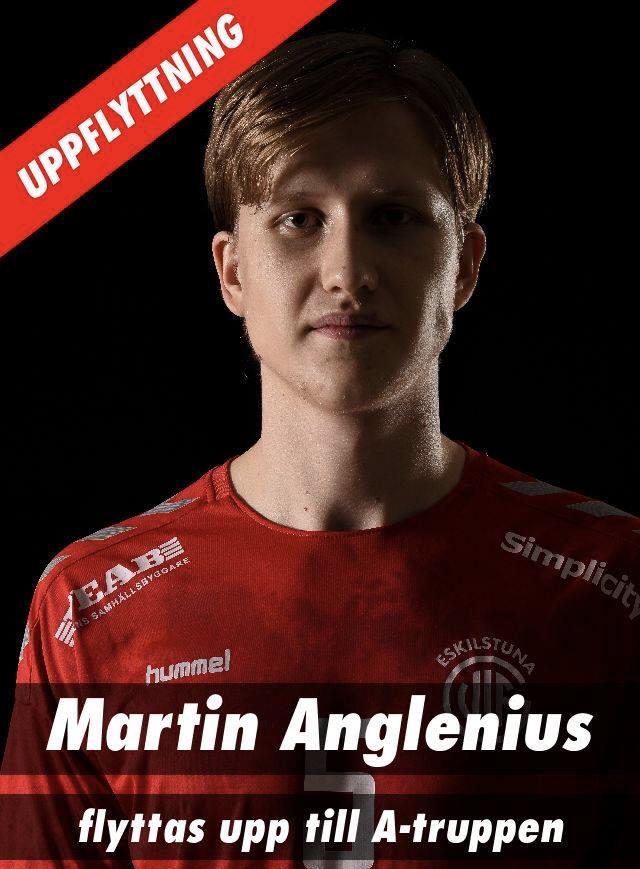 Martin Anglenius tar plats i herrtruppen