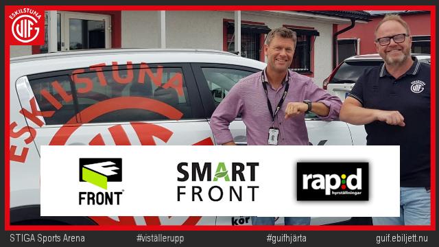 Tack till FRONT, SmartFront och Rapid  - viktig samarbetspartner inför nästa säsong.