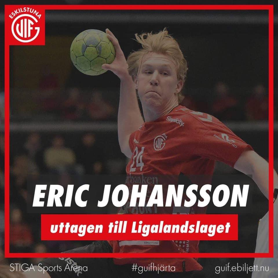 Eric Johansson uttagen i Ligalandslaget