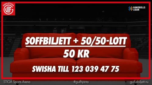 Soffbiljett med 50/50-lott