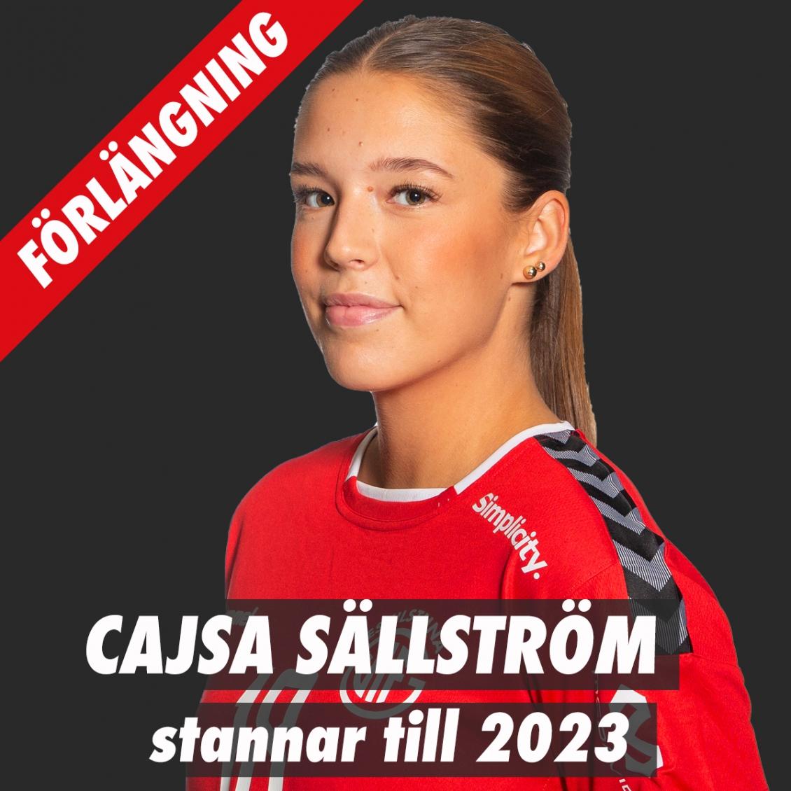 Cajsa Sällström förlänger!
