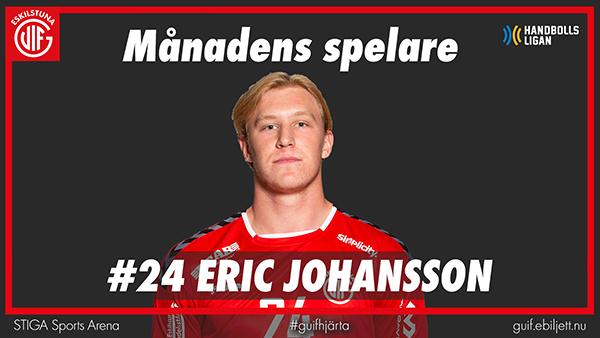 Eric Johansson månadens spelare