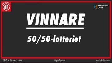 Vinnare i 50/50-lotteriet