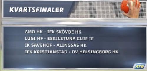 Lugi HF borta i första kvartsfinalen i ATG Svenska Cupen