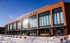 stiga sports arena i snö